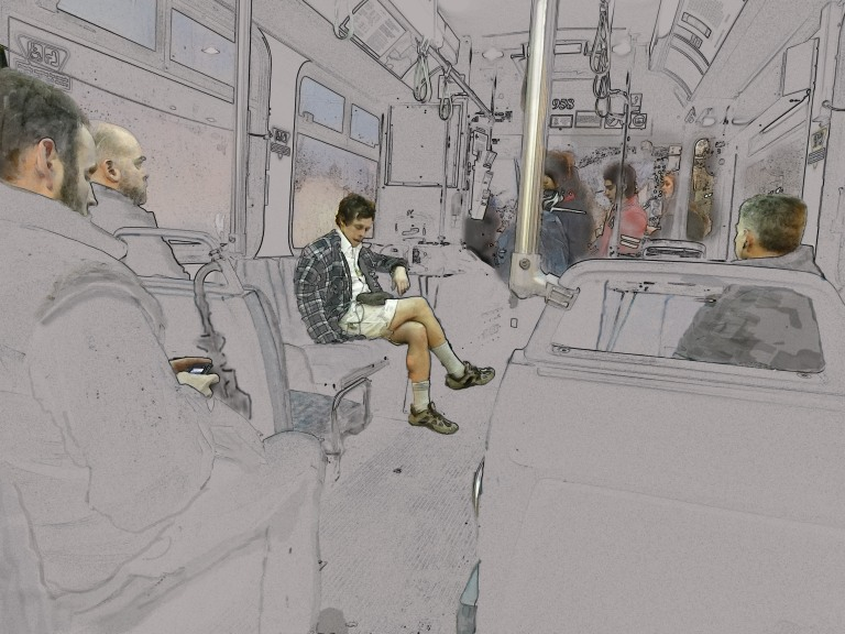 Rough Cut - guy gets on the bus the other morning